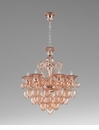 6 Light Pink Glass Chandelier by Cyan Design