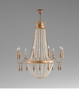 9 Light Gold Iron Chandelier by Cyan Design