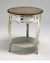 Abelard Distressed Wood Side Table by Cyan Design