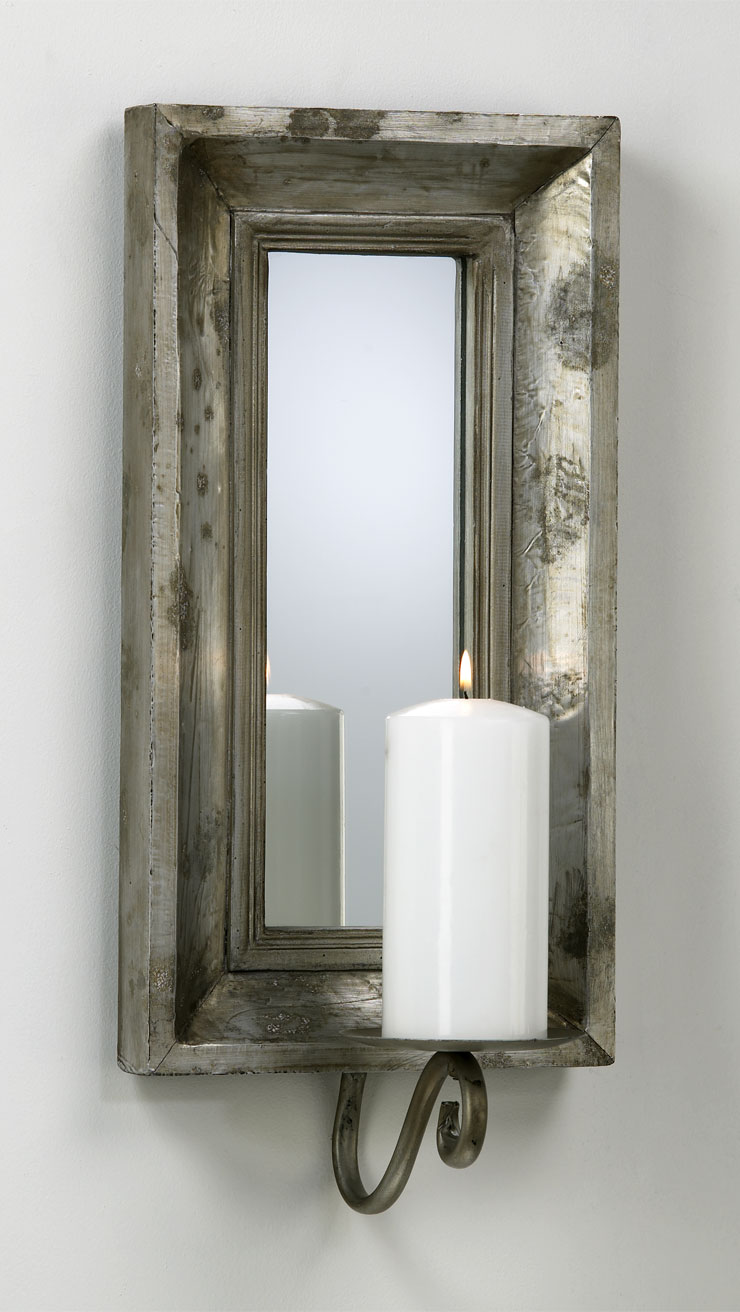 Mirrored Wall Sconces For Candles : Abelle Candle Mirrored Wall Sconce by Cyan Design