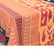 "Abigails Bali Batik Quilt Table Cloth Applique Brick 60"" x 90"""