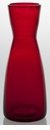 Abigails Carafe Bubble Glass Red