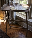 Abigails Folding Table with Stand Vendome Collection