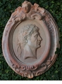 Abigails Garden Plaque Terra Cotta Roman Head Design