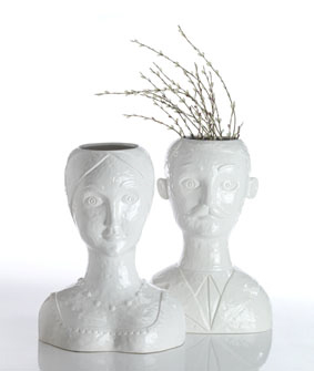 Abigails Male Head Vase