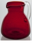 Abigails Pitcher Bubble Glass Red