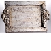 Abigails Vendome Vanity Tray Silver (Set of 2)