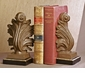 Dessau Home Acanthus Bookends Iron Gold/Bronze Finish Home Decor