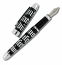 ACME Gothic Script Silver Fountain Pen