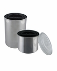 Airscape Stainless Brushed Steel Canister 4 inch