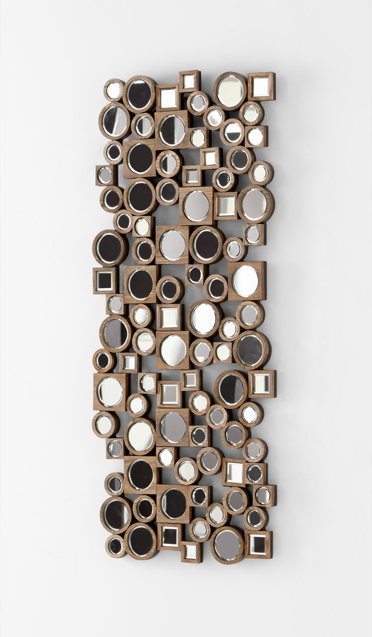 Aldo abstract modern wall mirror by cyan design for Contemporary decorative accessories