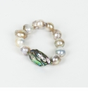 Ali and Bird Pearl and Abalone Bracelet