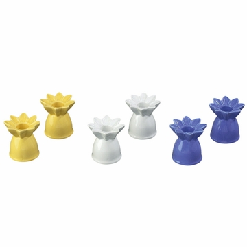 Andrea by Sadek 2.5''H Candle Stick Daisies (Set of 3 Assorted)