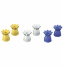 """Andrea by Sadek 2.5""""H Candle Stick Daisies (Set of 3 Assorted)"""