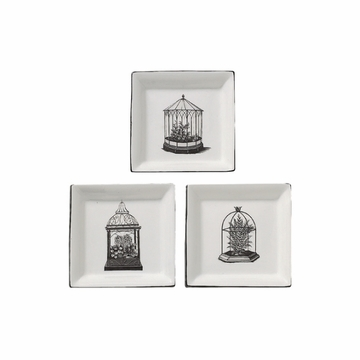 Andrea by Sadek 3 Assorted 5'' Square Plates - Terrariums