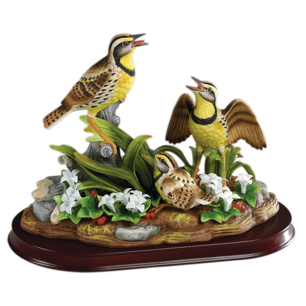 Andrea By Sadek Meadowlark Family Bird Figurine