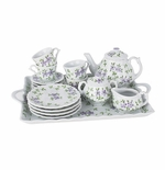 Andrea by Sadek Violets Child Teaset with Tray