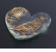 "Annieglass 7"" Heart Plate Song Bird - Gold"