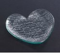 """Annieglass 7"""" Heart Plate Sweet Nothings - Gold"""
