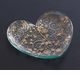 "Annieglass 7"" Heart Plate Swirl - Gold"