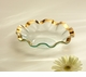 "Annieglass Roman 10"" Soup Bowl Gold Ruffled"