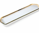 """Annieglass Roman Antique 16"""" x 6"""" Oblong Pastry Tray Gold"""