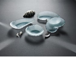 Annieglass Shells & Boats Glass Bowls & Trays