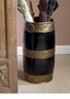 Antique Brass And Black Moroccan Umbrella Stand Home Decor