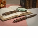 Dessau Home Antique Brass & Bamboo Mag Glass & Letter Opener Home Decor