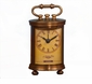 "Antique Brass ""Bombay"" Clock Home Decor"