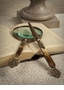 Antique Brass & Bone Magnifying Glass & Letter Opener Home Decor