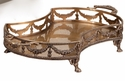 Dessau Home Antique Brass Garland Footed Tray Home Decor
