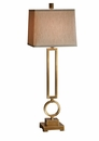 Antique Brass Rectangle And Circle Lamp- (3 Way And 150W) Home Decor
