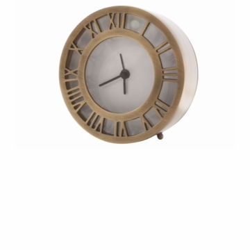 Dessau Home Antique Brass Roman Numeral Clock Home Decor