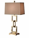 Dessau Home Antique Brass Square Link Lamp- (3 Way And 150W ) Home Decor