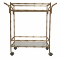 Dessau Home Antique Gold Bamboo Tea Cart Home Decor
