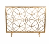 Antique Gold Circles Firescreen Home Decor