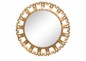 Antique Gold Curl Edge Mirror Home Decor