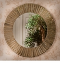Antique Gold Faceted Sunburst Mirror Home Decor