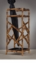 Antique Gold Iron Bamboo Umbrella Stand Home Decor