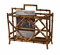 Antique Gold Iron Magazine Rack Home Decor