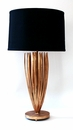 Antique Gold Reed Lamp With Black Shade (2 Way And 100W) Home Decor