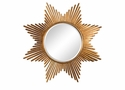 Antique Gold Star Burst Mirror Home Decor