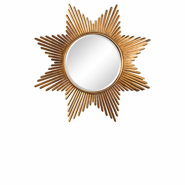 Dessau Home Antique Gold Star Burst Mirror Home Decor