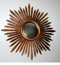 Antique Gold Sunburst Mirror Home Decor