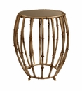 Dessau Home Antique Silver Bamboo Drum Table Home Decor