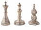 Antique Silver Chess Finials Set of 3 Home Decor