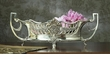 Antique Silver Embossed Centerpiece with Liner Home Decor
