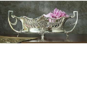 Dessau Home Antique Silver Embossed Centerpiece with Liner Home Decor
