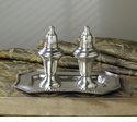 Dessau Home Antique Silver Salt & Pepper Set with Tray Home Decor